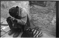 Hunch (bathingwithtoasters) Tags: street film morocco essaouira leicacl bwmoroccofilmstreet
