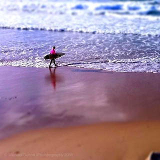 Lone pink surfer dude. Day 65 of 365 (series2) #iPhoneography #mostly365