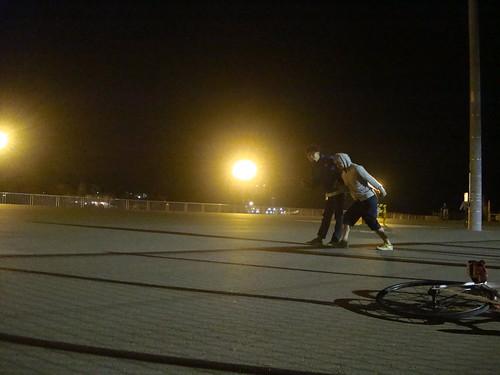 夜でもこんなに明るい釧路