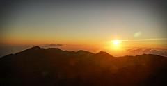 Good Morning Hawaii (pete4ducks) Tags: maui island sunrise haleakalanationalpark nationalpark travel vacation cropped mountains 2015 black sun on1pics hawaii lensflare