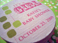 katie's baby shower - hang tags