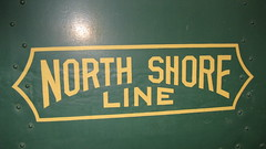 Chicago, North Shore & Milwaukee interurban railroad logo. The Illinois Railway Museum. Union Illinois. Friday, July 3rd 2009.