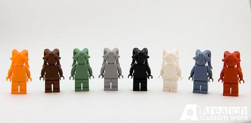 Rainbow Twi'lek custom minifigs
