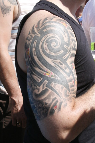 Tribal Sleeve Tattoos Pictures. Tribal Sleeve Arm Tattoo