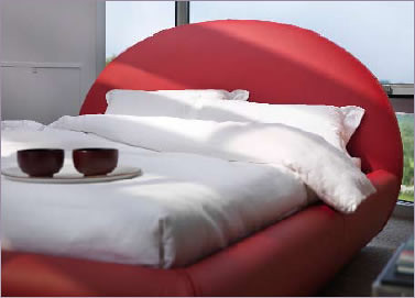 Beauty Bed – Modern Bed with Half-Circle Headboard