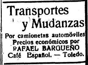 Publicidad de El Castellano. 19 de abril de 1923