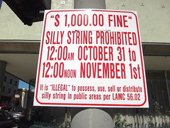 IMG_0551_no-silly-string (parlance) Tags: signs halloween sign losangeles illegal sillystring canonpowershots90 canons90