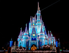 Christmas at Cinderella Castle - WDW (Todd Hurley (Todd_H)) Tags: christmas nightphotography family castle night fun lowlight wideangle disney christmaslights cinderella wdw waltdisneyworld themepark magickingdom waltdisney cinderellascastle uwa cinderellacastle canon1740f4l ultrawideangle dreamlights canon5dmark2 canon5dm2 thhphotography