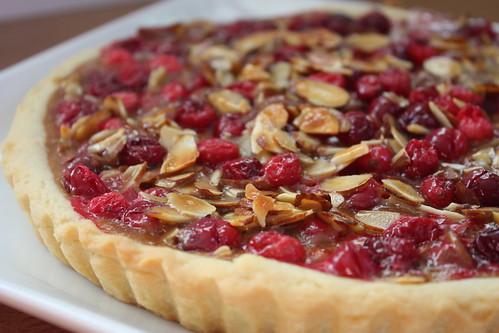 Caramel Cranberry Almond Tart 2