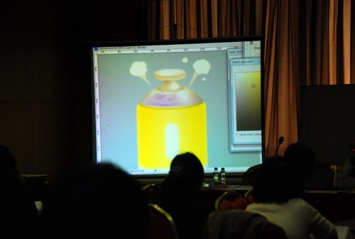 Leon在分享他的图标创作视频