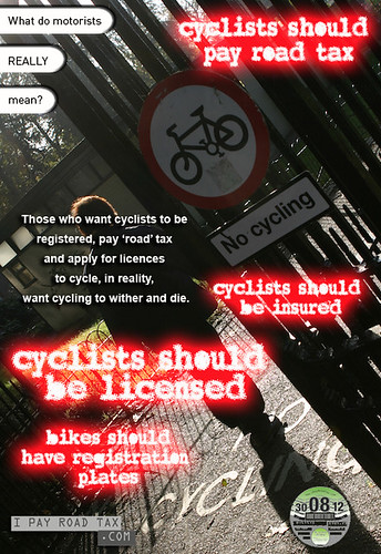 Why do some from the motorised majority want cyclists to be taxed