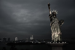 Statue of Liberty (TA.D) Tags: bridge statue japan canon liberty tokyo photo rainbow nikon asia marathon tad clinic 2009 liberated d700