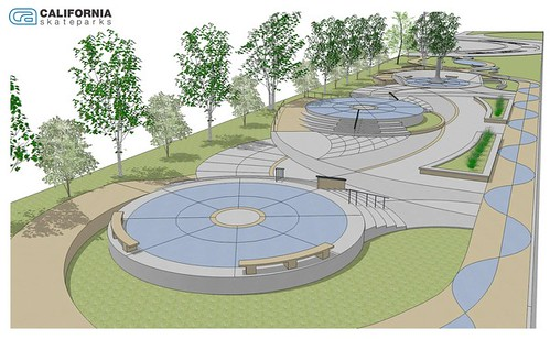A rendering of the proposed skate park