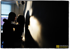Love Projected (Ryan Brenizer) Tags: wedding shadow portrait woman man love engagement newjersey nikon kiss noflash rutgers overheadprojector d3s 2470mmf28g nikond3s