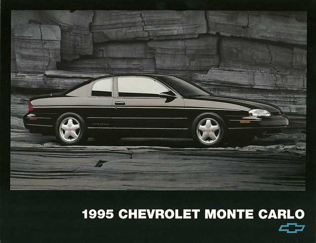 auto chevrolet car promotion ads advertising montecarlo chevy 1995 sales brochure
