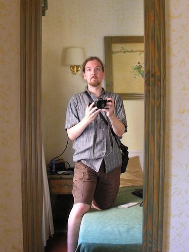 Self-portrait in Trastevere