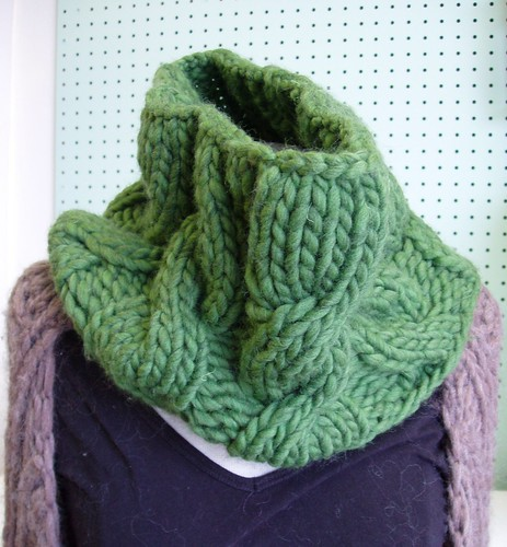 cabled cowl class by you.