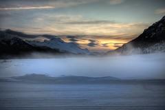(Cloe♥Photographs) Tags: montagne tramonto neve nebbia engadina canoneos450d