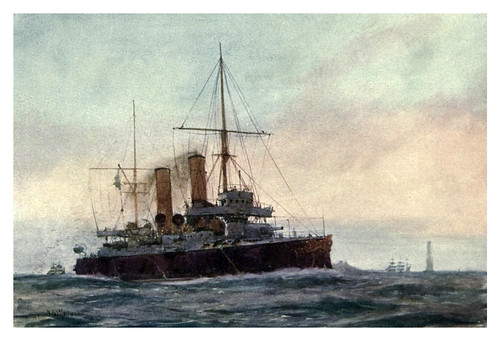 015- Crucero de primera clase HM Blenheim-The Royal Navy (1907)- Norman L. Wilkinson