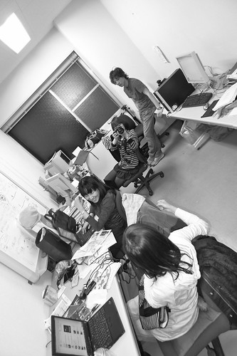 Sakai Lab is busy