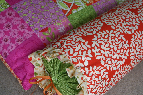 Quilted Pillow Sham and Bolster