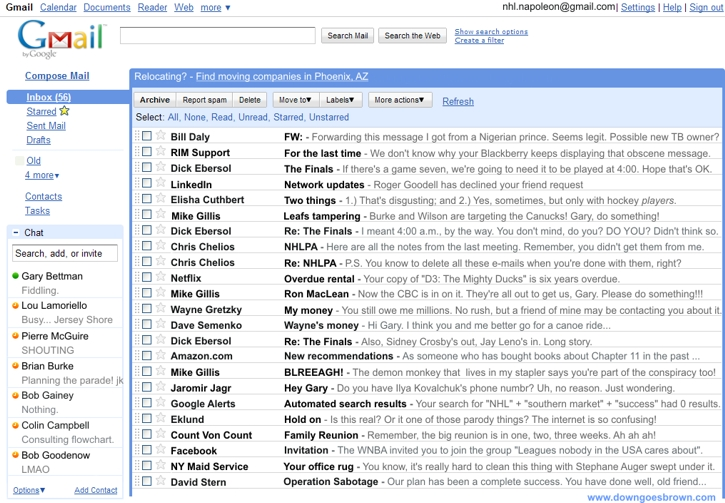 Gary Bettman's gmail