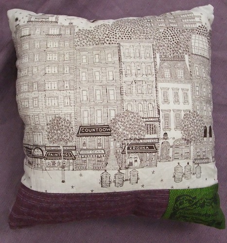 urban animal - reverse of raccoon pillow