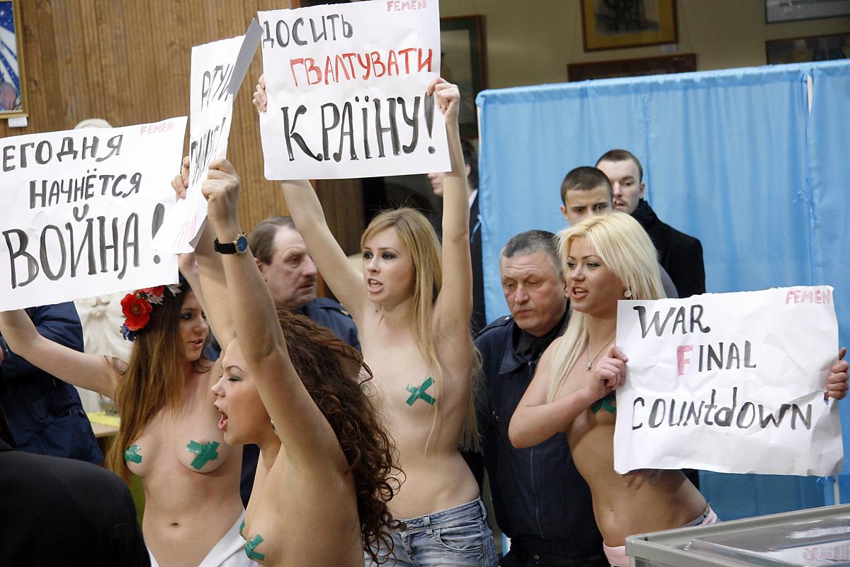 Фемен на выборах (Femen)
