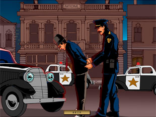 free Reel Crime 1 Bank Heist slot bonus game