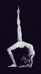 (Tal Sela) Tags: yoga pen pose sketch drawing sketchbook anatomy figure asana