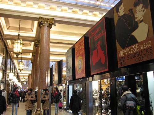 Galeria comercial nos Champs Élysées