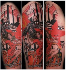 Russian revolutionary tattoo by Richie Vomit (Needles and Sins (formerly Needled)) Tags: iowa richievomit lenintattoo russianrevolutiontattoo