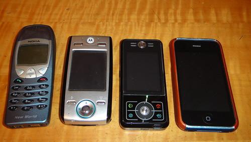 Nokia - Motorola E680 - Motorola E6 - iPhone 3G