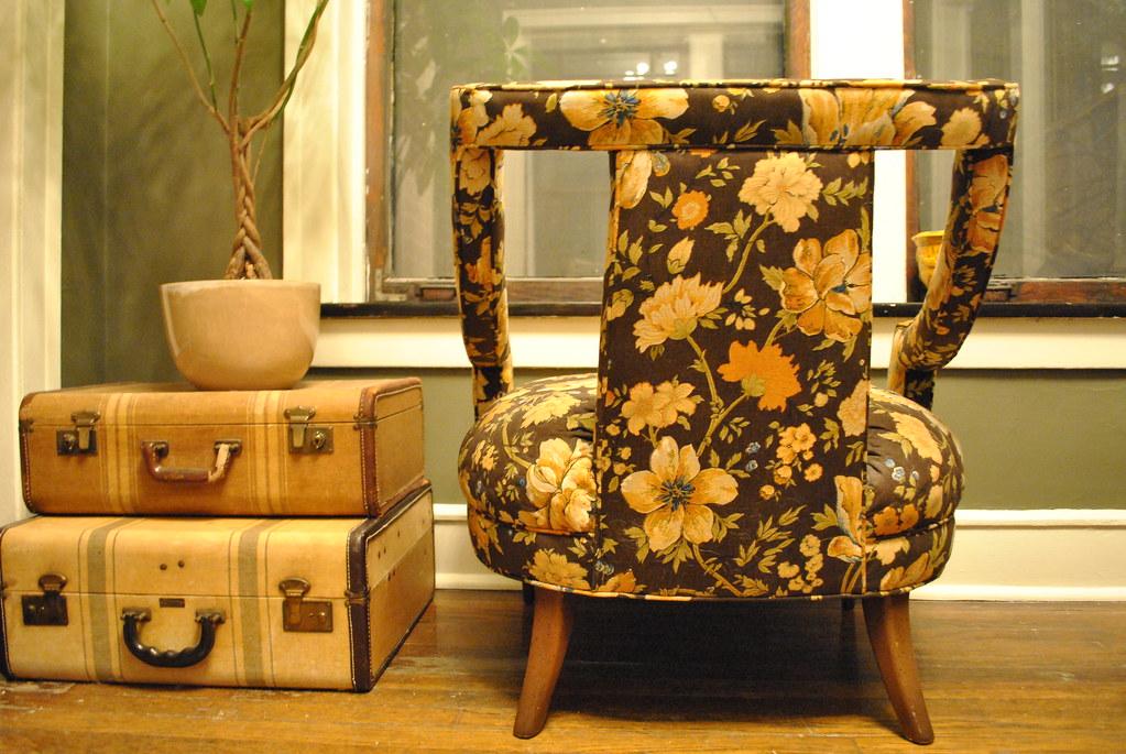 Vintage Slipper/Bergere Chair