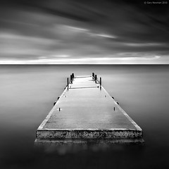 Mooring (Gary Newman) Tags: uk longexposure bw square landscapes jetty dorset swanage nd110 d700