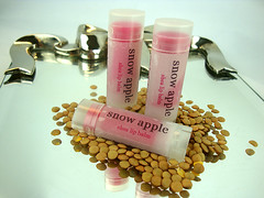 snow apple shea butter lip balm - .15 oz.