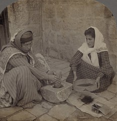(animated stereo) Grinding coffee the traditional way. Palestine, 1905. (Thiophene_Guy) Tags: blackandwhite history coffee monochrome stereogram 3d women palestine kaffee jiggly wiggly stereo mortar stereoview keystone animated gif parallax animatedgif 20thcentury caff kahve wiggle caf kava 1900s grinding  kopi kafe levant kaffi koffie pestle sieve kahvi kavos coffi  kawa kva    cafea kape    kafea kv   kohv derivativeworks kahawa stereophotomaker  cph  thiopheneguy    kafijas motionparallax  animatedstereo qhv imagesharedbythelibraryofcongress caife