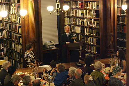 Mayor Bloomberg at the Library Dinner; photo by Kristen Artz courtesy of nycmayorsoffice on Flickr