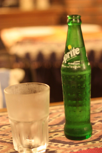Sprite and empty glass