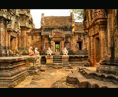 temple of Shiva...... (atsjebosma) Tags: history buildings geotagged temple ancient asia cambodia details explore siem angkor hindu soe tempel reliefs cambodja banteaysrei azi geschiedenis godshiva reab abigfave platinumphoto