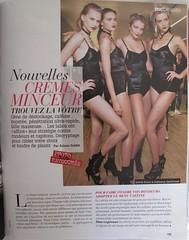 """""""Nouvelles crèmes minceur"""", in Marie-Claire, avril 2010,  numéro 100% sans retouches, page 193."""