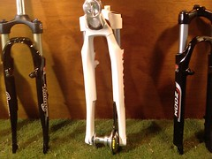 Suspension fork with built-in light