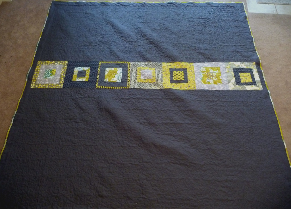 wedding quilt back