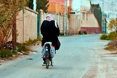 Old man and a bicycle... (Mr.Sam PhOtOGraphy) Tags: road old man bicycle canon rebel f14 traditional syria usm 50 xsi  lifeline  duma 450d abigfave