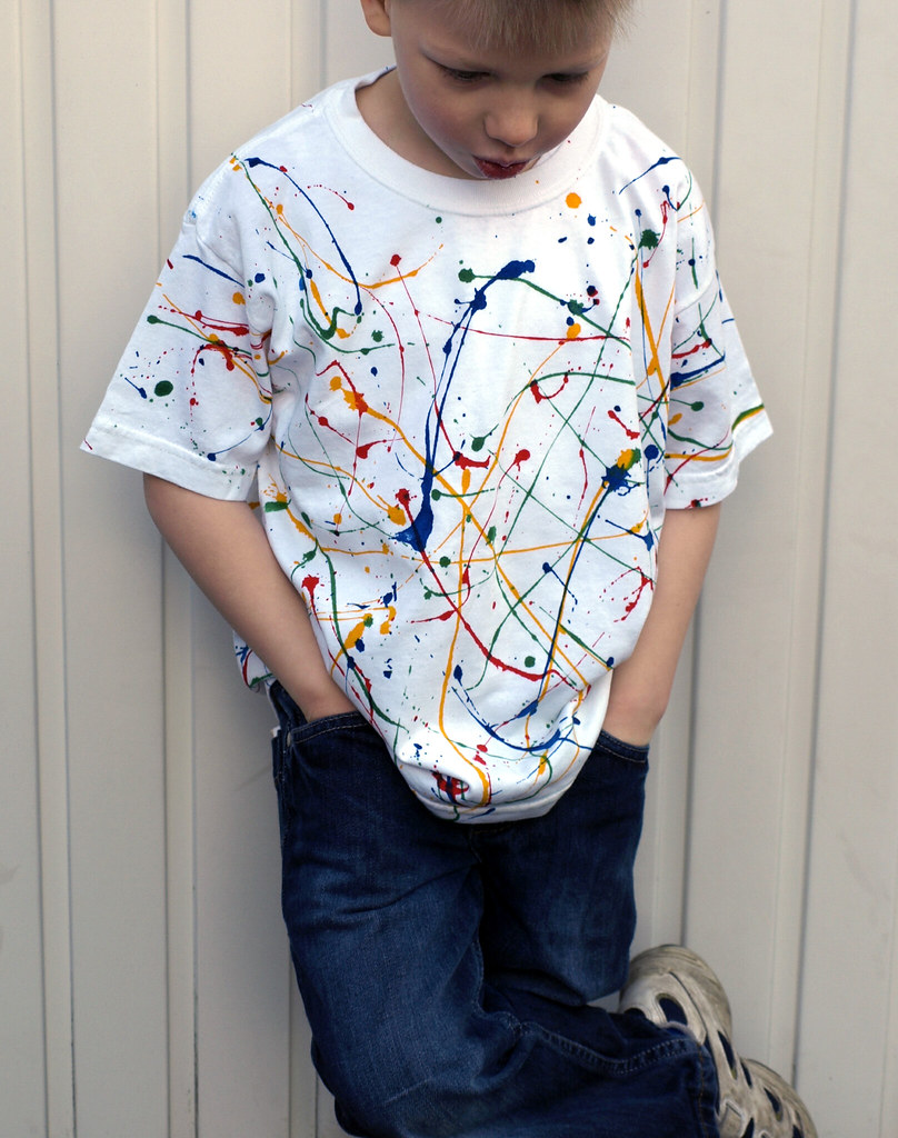 Child's White Spatter T-shirt