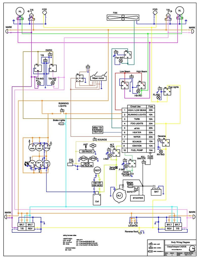 Ez Wiring 21 Circuit Diagram Share The Knownledge Schematic Edge Complete Re Design Included Electrical Rh Classiczcars Com