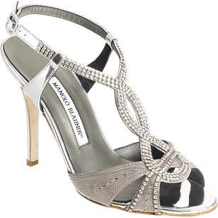 Wedding high heel sandals with rhinestone