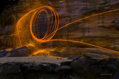 Fire throwing (Carole Diamond) Tags: fire michael spinning headland cronulla sutherlandshireflickrgroup