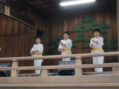 大鳥神社神楽殿演武1