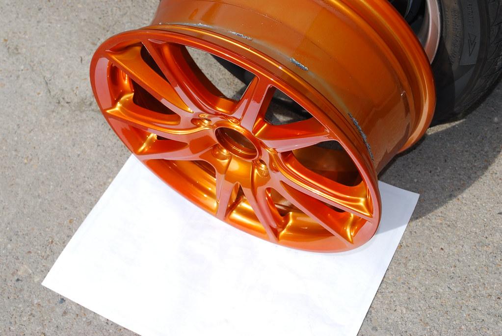 Candy Orange Powder Coated AP2 S2000 Wheels w/ Tires ...